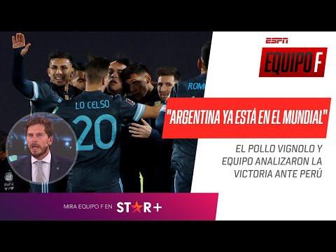 """""""ARGENTINA YA ESTÁ EN EL MUNDIAL"""": El Pollo Vignolo analizó la victoria de Argentina ante Perú"""