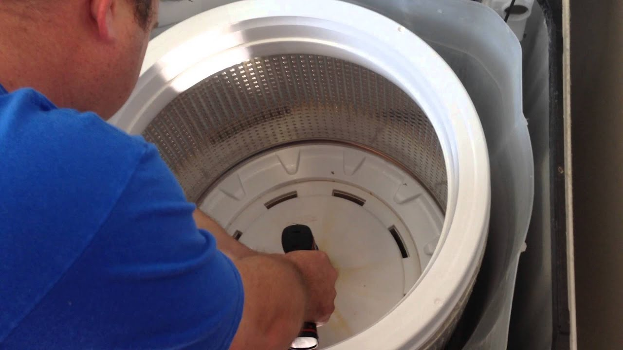 washing machine tub removal