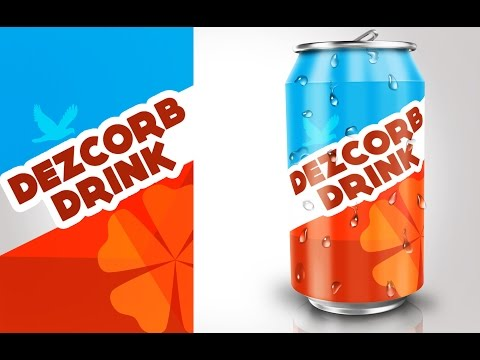 product packaging design in photoshop #4 | SODA CAN Mockup