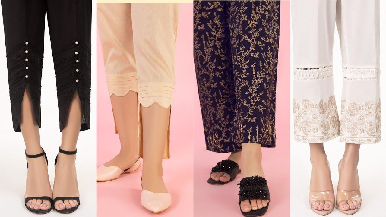 Gul Ahmed Trendy Women's Trousers & Capri Pants | Capri design 2020 | Global fashion of the year