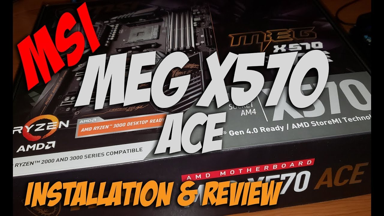 Worth The Extra Cost? MSI MEG X570 ACE Ryzen Motherboard Installation &  Review