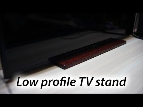 Low profile TV stand DIY