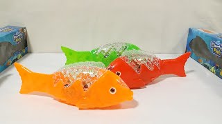 My Latest Electric Fish Collection Battery Operated Toy with Light and Music for Kids.