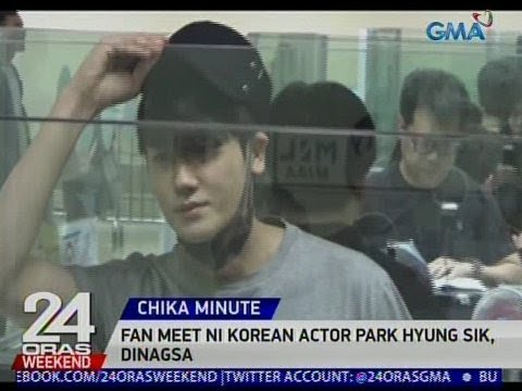 24 Oras: Fan meet ni Korean actor Park Hyung Sik, dinagsa