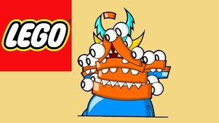 How to build LEGO Mixels - Krog & Lixer Mix - Stop Motion Build