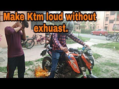 KTM DUKE 200 MODIFIED || LOUDEST EXHAUST SOUND || MODIFICATION