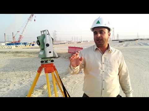How Land Surveyor do Alignment with Leica Total Station TS 09 Plus in English