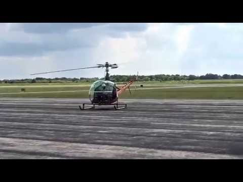 Doing a little taxi work hover and ground taxi. Hiller UH12/ OH23. working on my pilots license