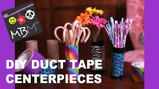 Duct Tape Diy Party Decorations - Toilet Paper Roll Centerpieces