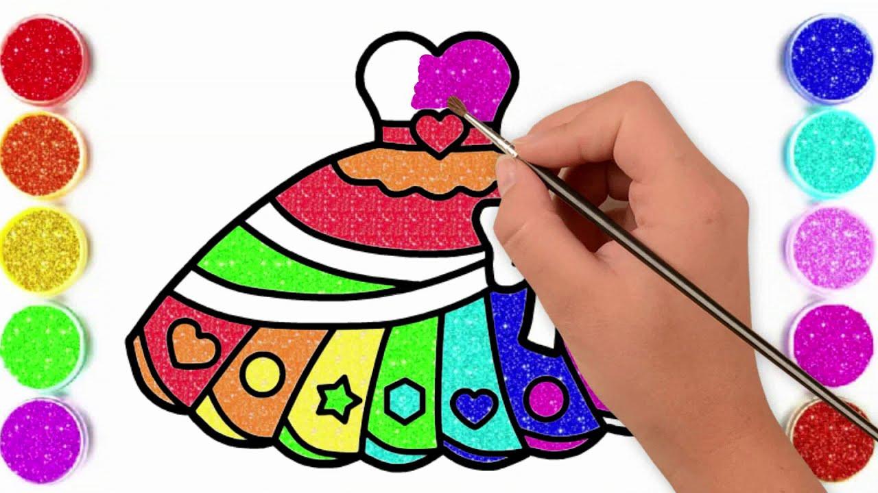 Gaun Belajar Menggambar Dan Mewarnai Gambar Baju Untuk Anak Anak