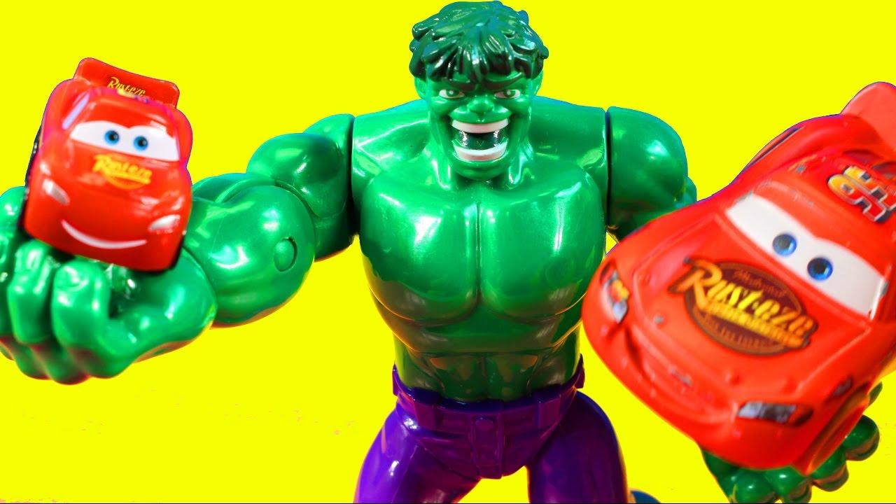 Hulk Helps Disney Pixar Cars 3 Lightning McQueen Find His ...
