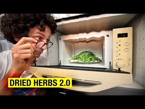 Can You Dry Herbs Better Using a Microwave ?