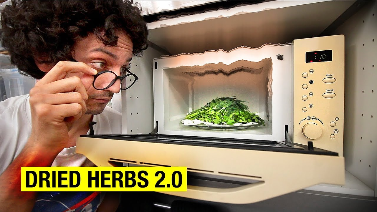 Dry Herbs Better Using A Microwave
