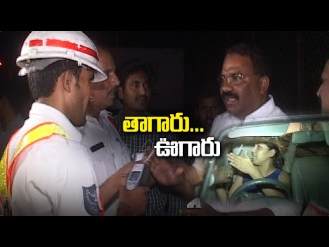 Drunk and Drive | Politician Makes Fun With Traffic Police In Hyderabad | NTV