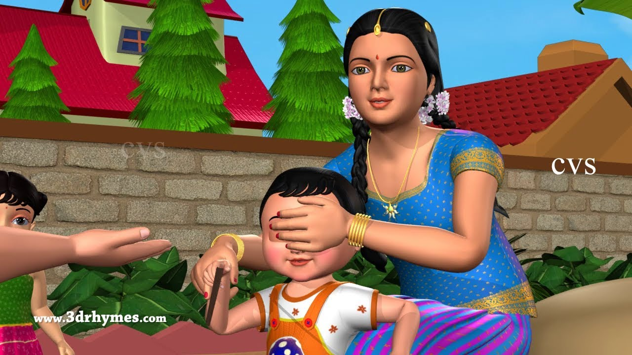 Hide and Seek Song - 3D Animation English Nursery Rhymes & Songs for Children