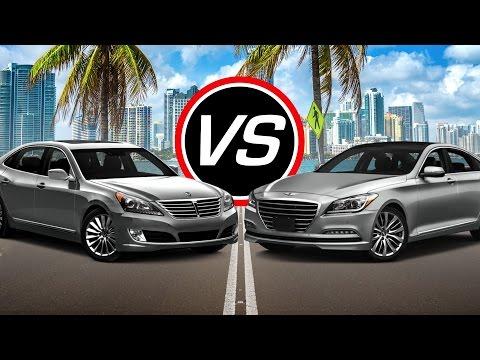 2016 Hyundai Equus vs Genesis V8 Spec Comparison