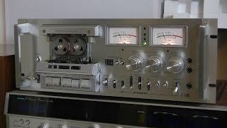 Vintage Pioneer CT-F1000 Stereo cassette deck Review & Demo