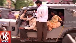 Private Travels Business   Special Story On Border Villages People Risky Journey In Adilabad  V6News