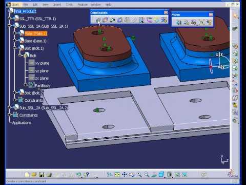 catia v5 tutorial assembly assembly learn catia v5 youtube. Black Bedroom Furniture Sets. Home Design Ideas