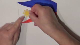Learn geography for kids How to draw a flag Philippines