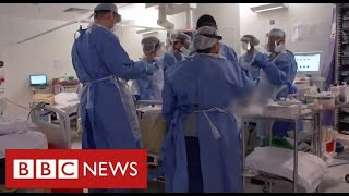 Covid frontline: harrowing scenes from London intensive care unit as deaths soar - BBC News