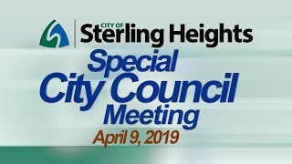 4-9-19 Special City Council Meeting