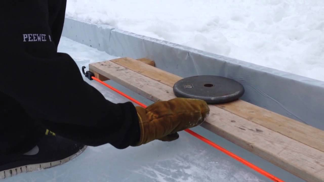 How to make a hockey puck pass back system  homemade