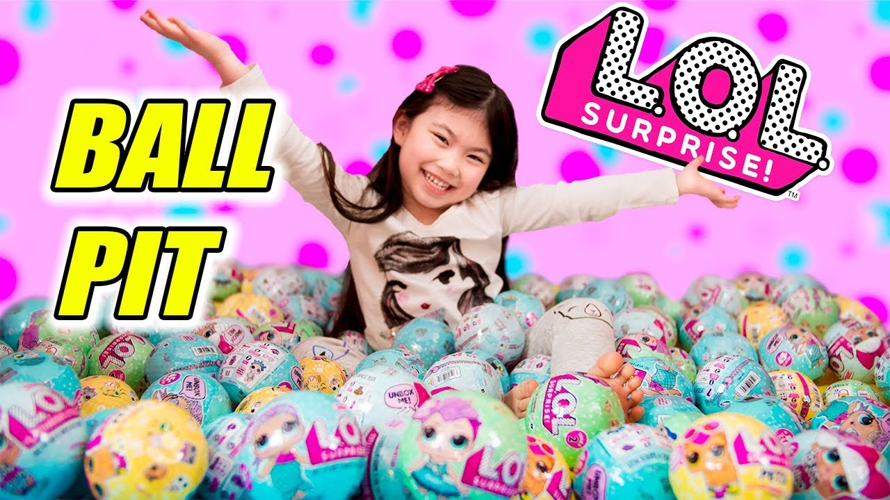 L O L Surprise Ball Pit Gold Ball Found All Lol Surprise