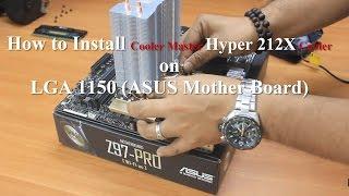 how to install cooler master hyper 212x cooler   lga 1150   intel i7 4790k processor