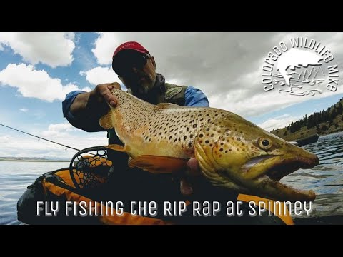 Fly Fishing The Rip Rap At Spinney