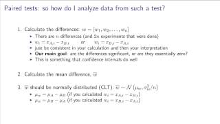 Univariate data analysis - 14 - The paired test: theory and an example