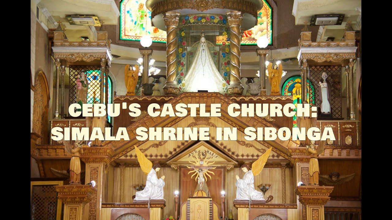 simala shrine in sibonga cebu s castle church 2016 17 youtube