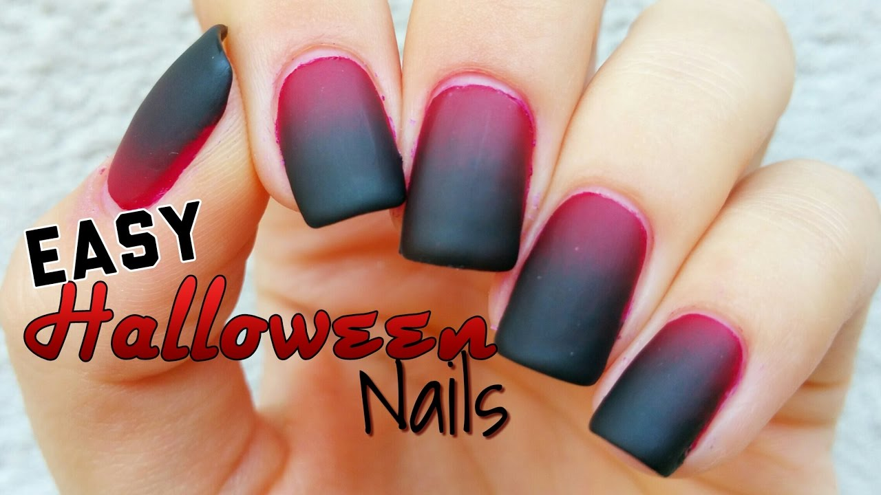Easy Halloween Nail Art - YouTube