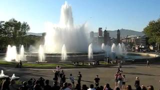 משפחת טטרו - מזרקה - כיכר אספניה - ברצלונה - אפריל 2011
