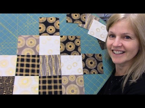 Part 2: Finishing up the Jagged Edge Table Runner with Sparkle from Robert Kaufman