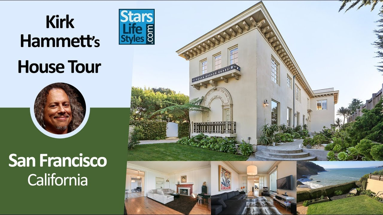 Kirk Hammett S San Francisco House Tour California 14 Million Metallica Guitarist