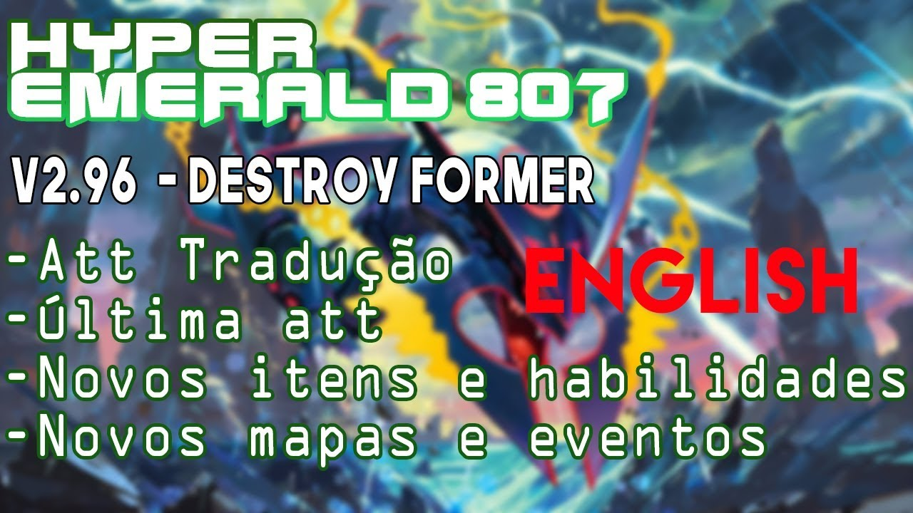Pokemon Hyper Emerald v2 96 - Destroy Former ~ Pokemon Saves