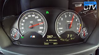 2015 BMW M3 DCT (431hp) - 0-270 km/h acceleration (1080p)