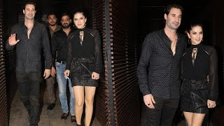 Sunny Leone Spotted with husband Daniel Weber at a Restaurant