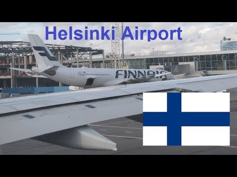Finland Helsinki Airport from the Finnair Airbus A330-300