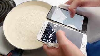 Samsung Galaxy S6 vs iPhone 6 Boiling Hot Water Test
