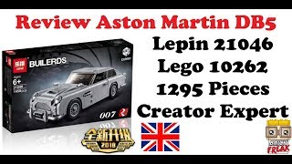 Aston Martin DB5 - Lepin 21046 - Lego 10262 Review