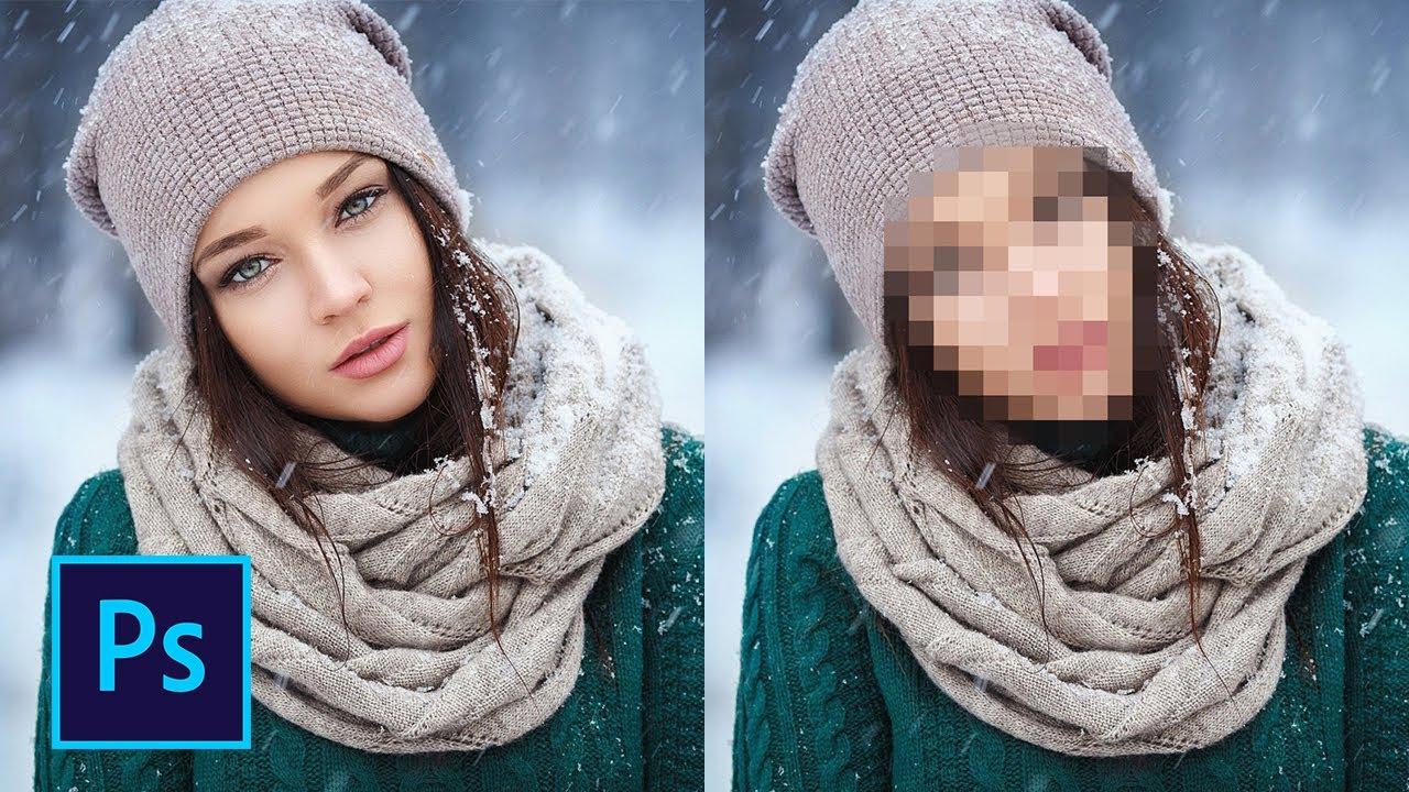 Закрыть лицо на фото онлайн картинкой