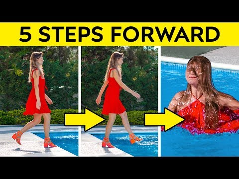 5 STEPS FORWARD CHALLENGE! || FUNNY PRANKS AND AWKWARD SITUATIONS by 123 GO! CHALLENGE