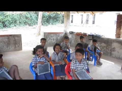 Cute First graders introducing themselves - Pazhassi Raja Tribal School, Wayanad , Kerala , India