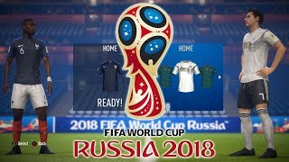 All FIFA World Cup 2018 Kits & Ratings | International Home & Away Team Kits FIFA 18 World Cup Mode