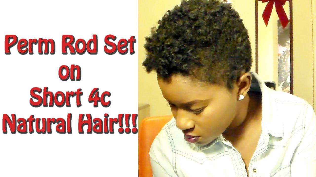 Perm Rod Set on Short (TWA) 4c Natural Hair!!! |Mona B. - YouTube