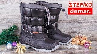 DEMAR Lucky B 1354B - Детские и женские зимние сноубутсы, дутики. Видео обзор от STEPIKO
