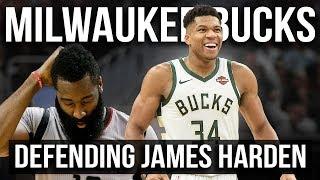 Milwaukee Bucks Defending James Harden   Force Right & Help