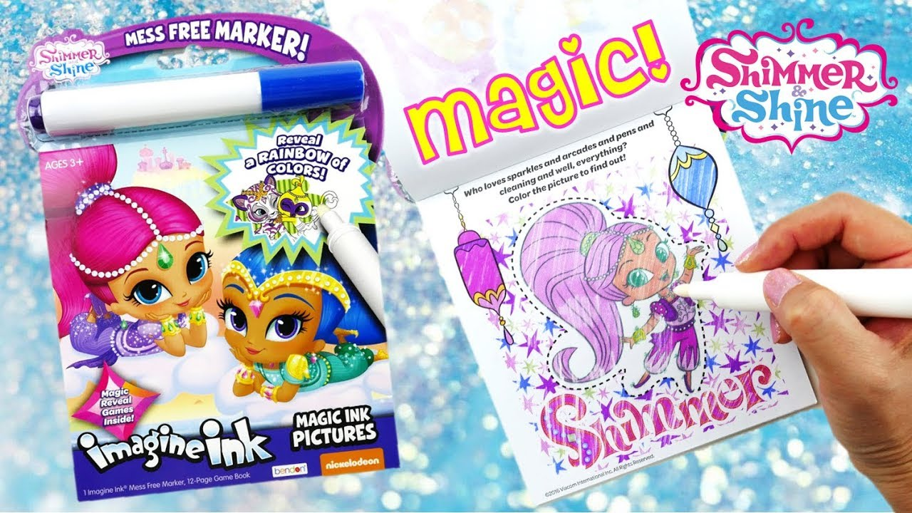 shimmer and shine imagine ink magic marker coloring book with activity - Magic Marker Coloring Book